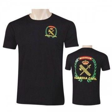 Camiseta Guardia Civil (Todo por la Patria) en negro.