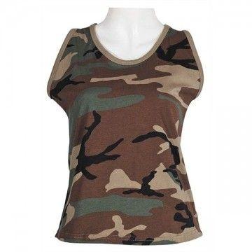 Camiseta de tirantes Mujer en Woodland de Max-Fucs