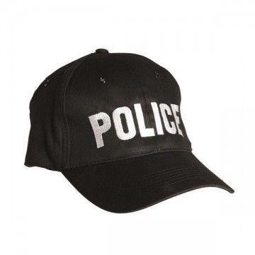 Gorra bordado POLICE en negro de MilTec