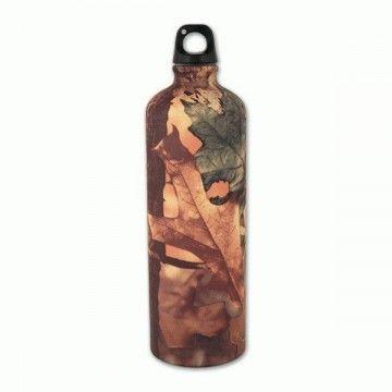 Botella de aluminio de 1 L en camuflaje de hojas de Aventuralia