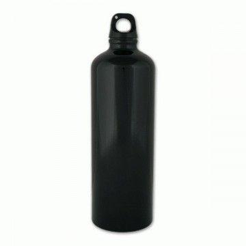 Botella de aluminio de 1 L en color negro de Aventuralia