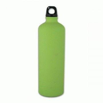 Botella de aluminio de 1 L en verde de Aventuralia
