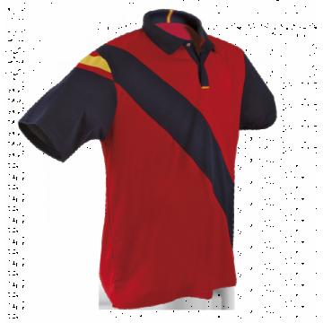 Polo técnico España hombre en rojo y azul marino de Dry Fresh