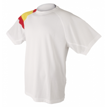 Camiseta técnica España hombre en blanco de Dry Fresh de Dry Fresh