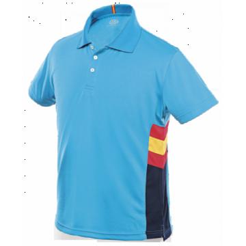 Polo técnico España hombre en azul de Dry Fresh