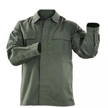 Camisa táctica TDU Ripstop en verde de 5.11