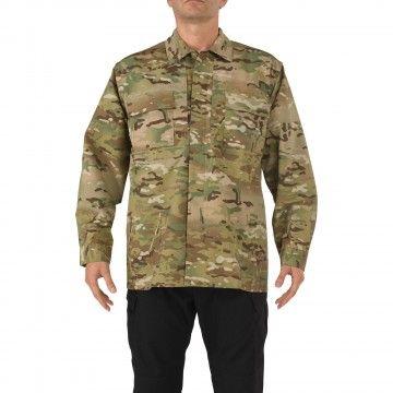 Camisa táctica TDU en camuflaje Multicam de 5.11