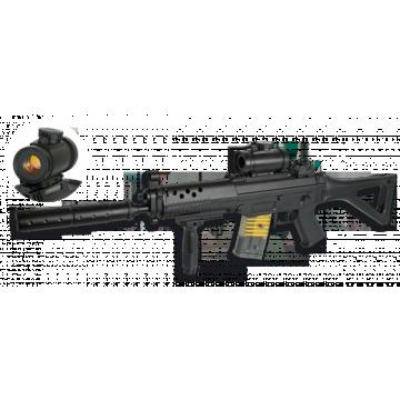 Rifle eléctrico de airsoft, réplica del modelo M15A4 RIS de la marca Double Eagle