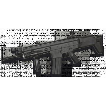 Subfusil de muelle para airsoft réplica del modelo FN Scar serie L. Con linterna y grip
