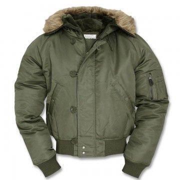 Abrigo N2b short en verde de Miltec