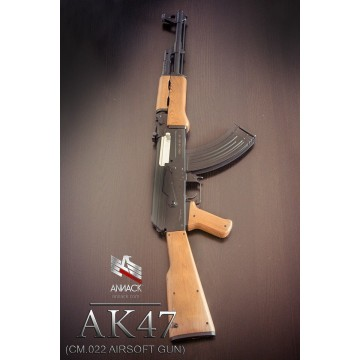Fusil eléctrico para airsoft. Réplica del AK-47. Marca Cyma.