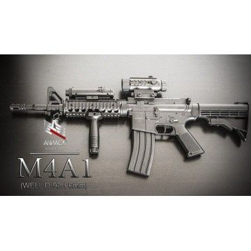 Electric rifle for airsoft replica of M4A1 model. Mark Well