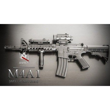 Fusil eléctrico para airsoft, réplica del modelo M4A1. Marca Well