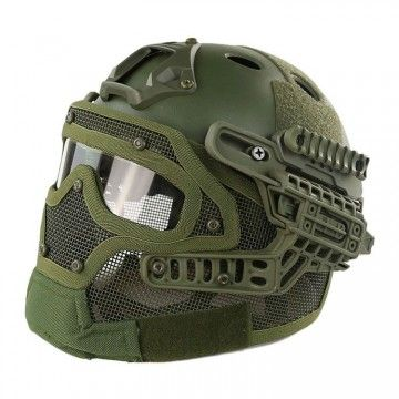 Casco con máscara de protección completa OD Edition