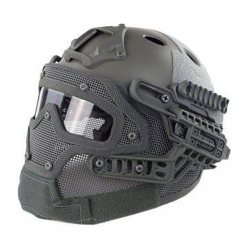 Casco con máscara de protección completa Gris Sage Edition