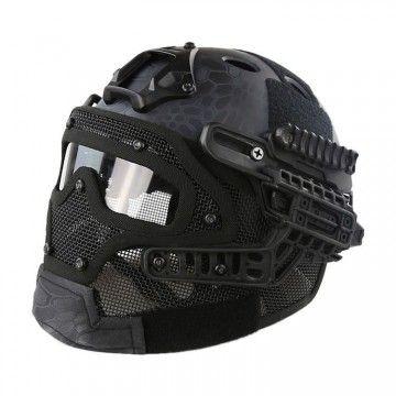 Casco con máscara de protección completa Kryptek Typhon Edition
