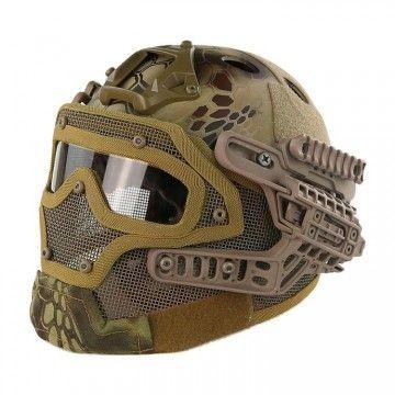 Casco con máscara de protección completa Kryptek Highlander Edition