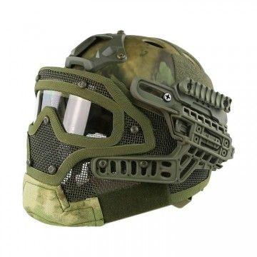 Casco con máscara de protección completa Atacs-FG Edition