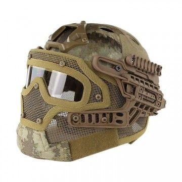 Casco con máscara de protección completa Atacs-AU Edition