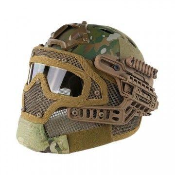 Casco con máscara de protección completa Multicam Edition