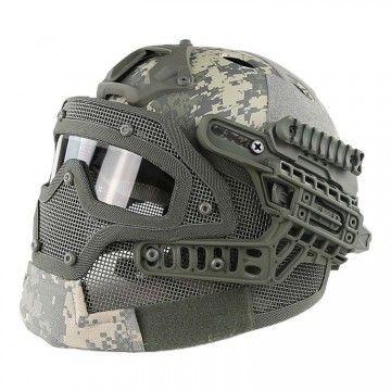 Casco con máscara de protección completa Digital ACU Edition