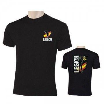 Camiseta LEGIÓN ESPAÑA en color negro