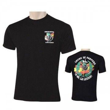 Camiseta PANTERA LEGIÓN ESPAÑA en color negro