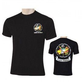 Camiseta CALAVERA LEGIÓN ESPAÑA en color negro