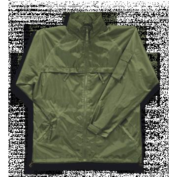 Chaqueta impermeable termosellada de color verde