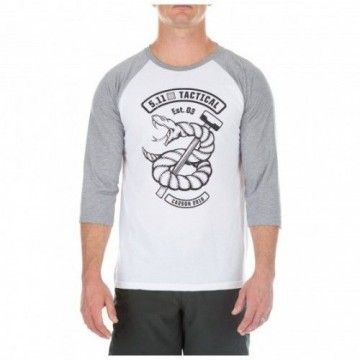 Camiseta Snake Sledge Raglan en Blanco de 5.11 Tactical