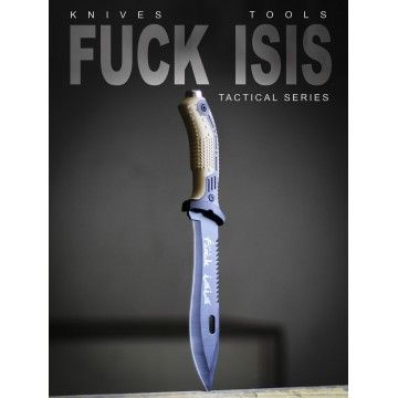 Cuchillo táctico Fuck Isis Exclusive Edition en Tan