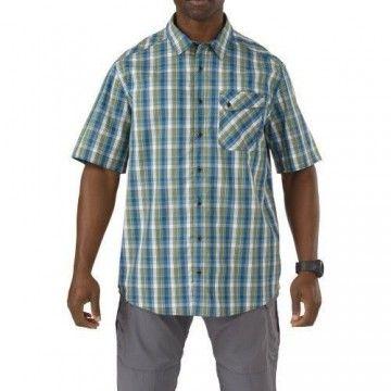 Camisa táctica Cover Single Flex en Verde Fatigue de 5.11 Tactical