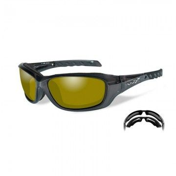 Gafas polarizadas Gravity Yellow en Black Crystal de Wiley X