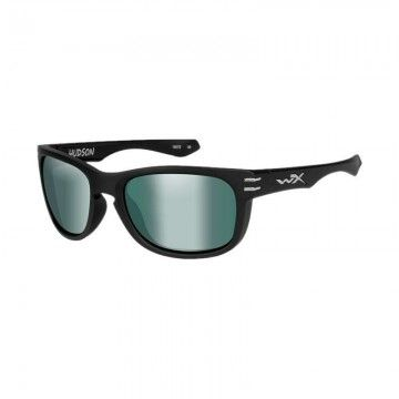 Gafas polarizadas Hudson Platinum Flash en Negro de Wiley X