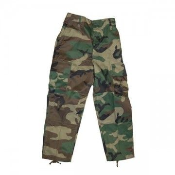 Pantalones Miltec - Niño. Camo- Verde