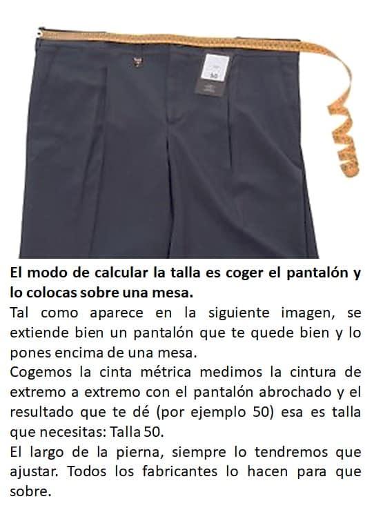 Como calcular la talla de un pantalon