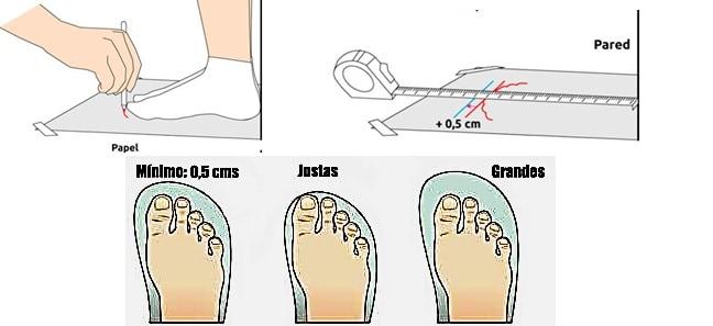 guia talla pie