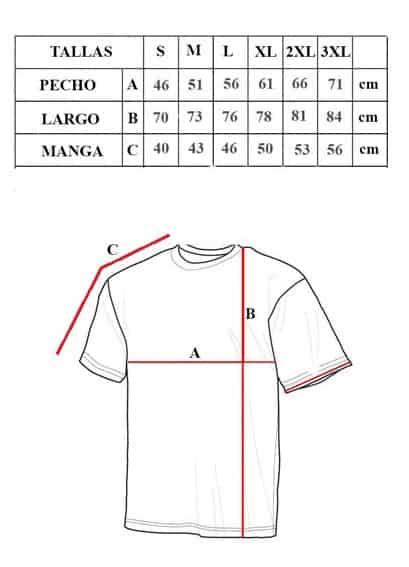 tabla de tallas de camiseta