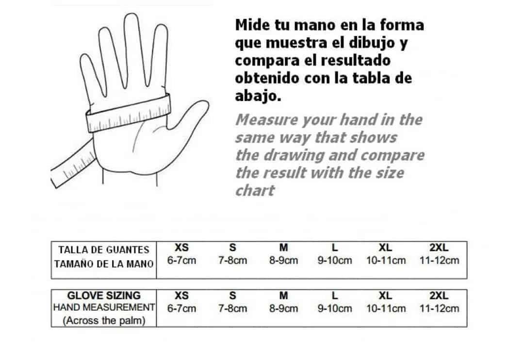 Como calcular la talla de tu guante
