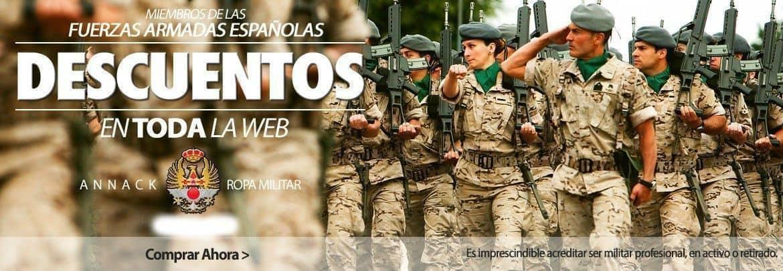 Banner oferta descuentos para Fuerzas armadas Españolas