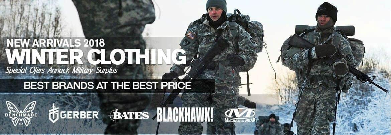 Banner promoción ropa de invierno Annack Ropa Militar