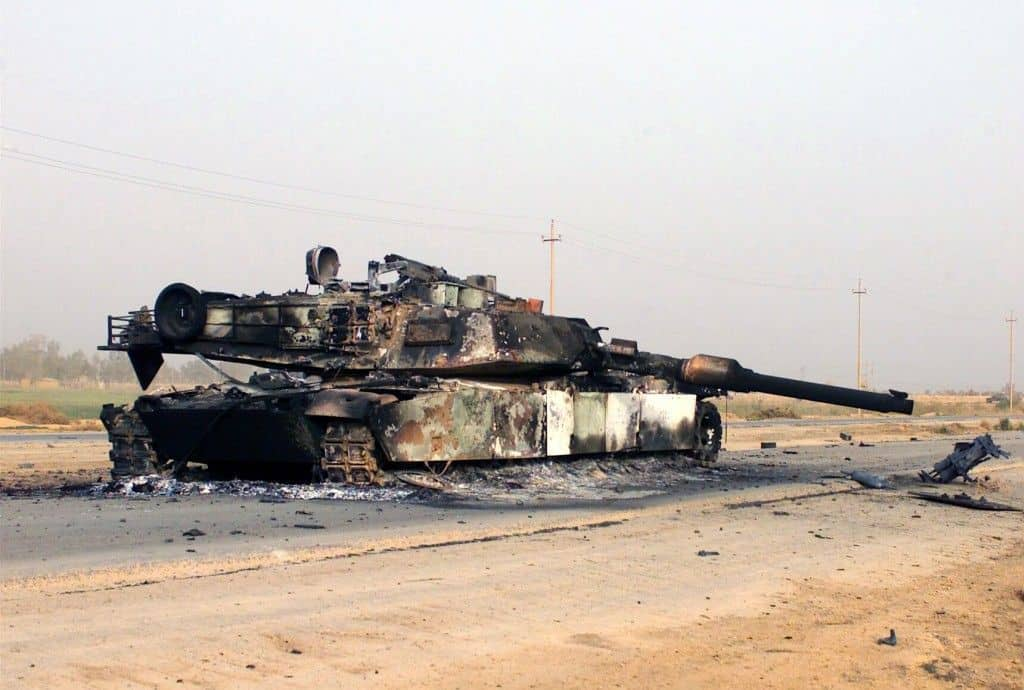Los M1A1 Abrams caen como chinches ante los nuevos misiles iranies