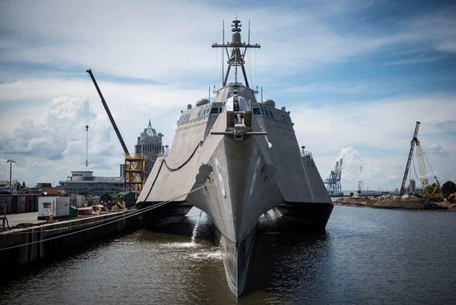 USS Montgomery: cuando los barcos parecen naves espaciales