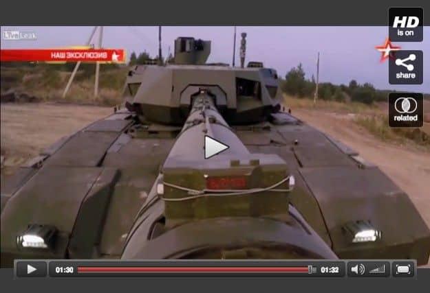 El tanque ruso T14 Armata en acción