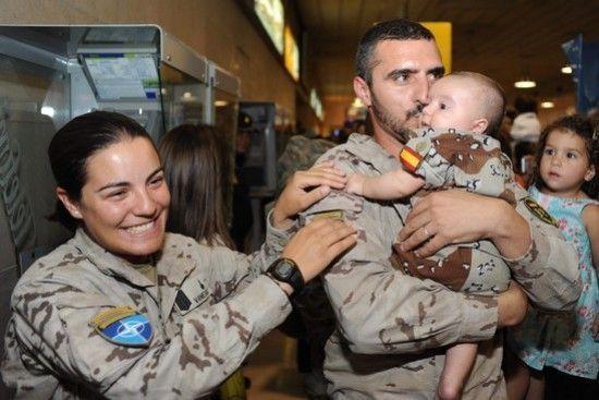 El video más emotivo de los soldados españoles regresando a casa