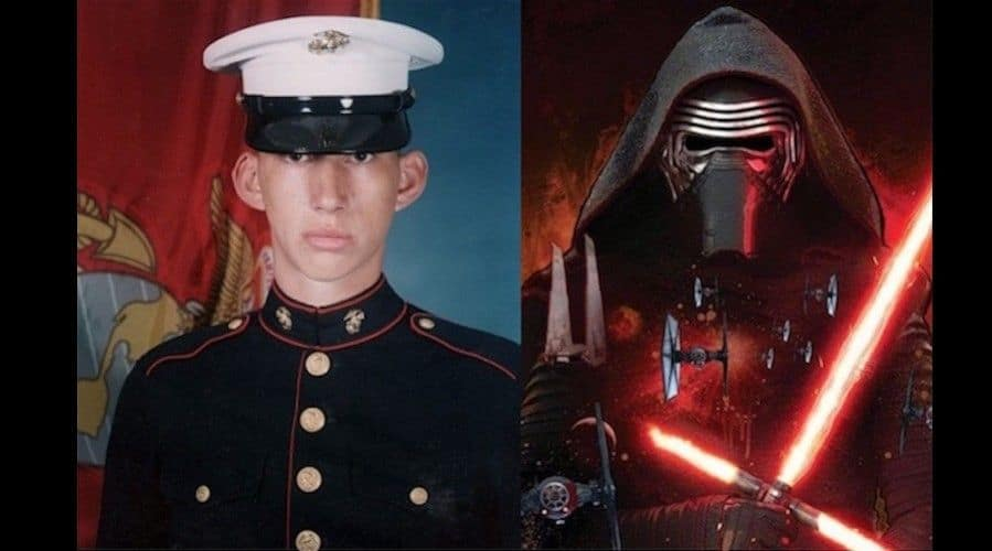 Kylo Ren, el villano de Star Wars VII es un Marine