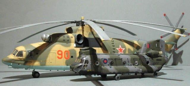 Mil Mi 26, el gigantesco helicóptero que empequeñece a un Chinook