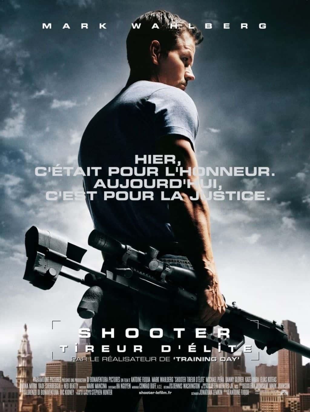 El tirador (shooter): todo el armamento de la película.