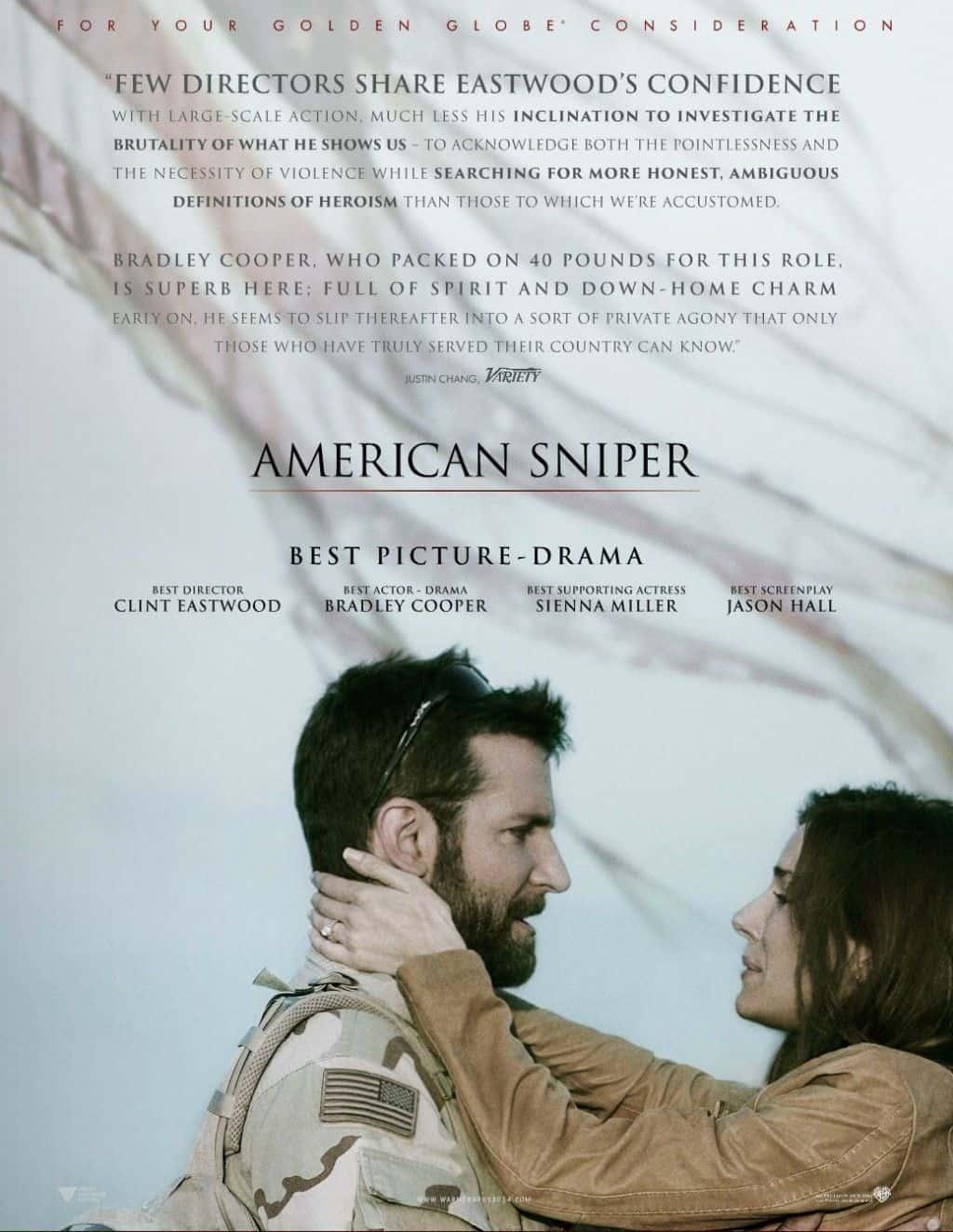 Francotirador (American Sniper): película bélica más taquillera de la historia