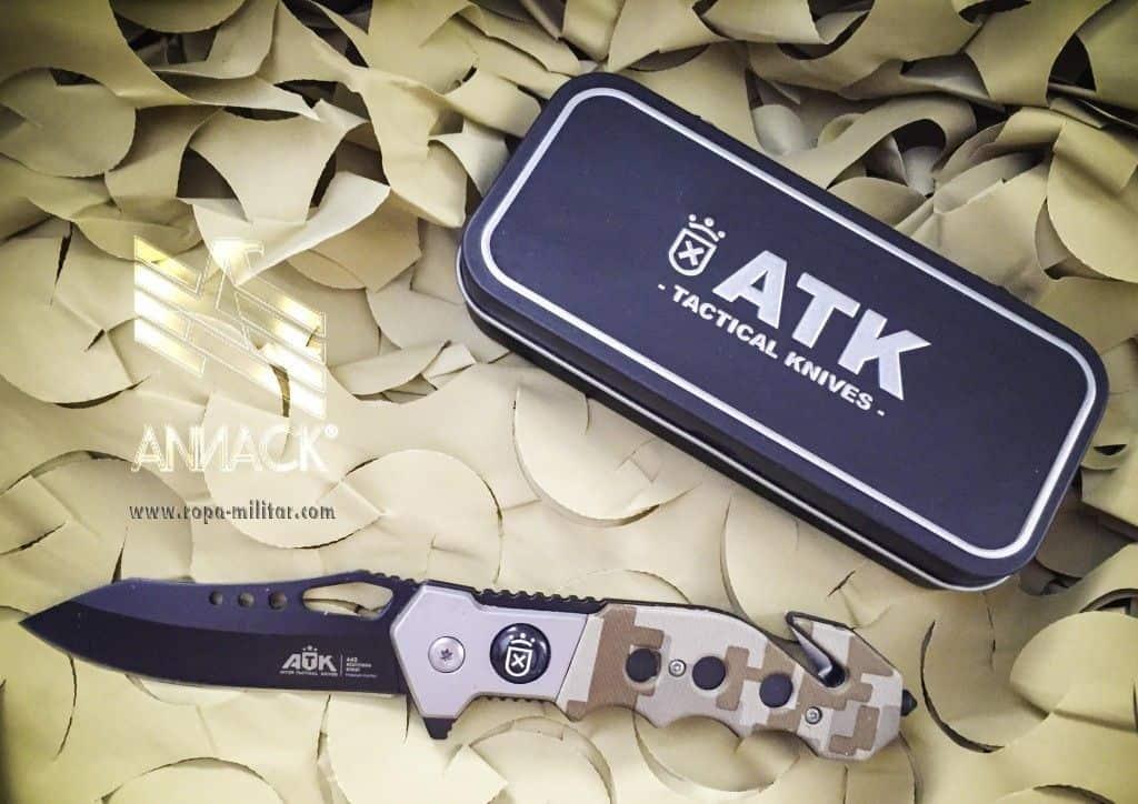 Navaja táctica ATK Officer - camo arido digital